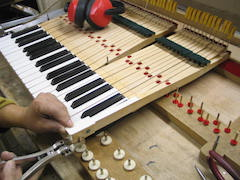Restauration d'un piano Pleyel