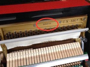 Numéro de série d'un KAWAI CX-H5